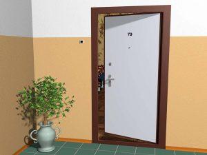 Дверь внутреннего открывания