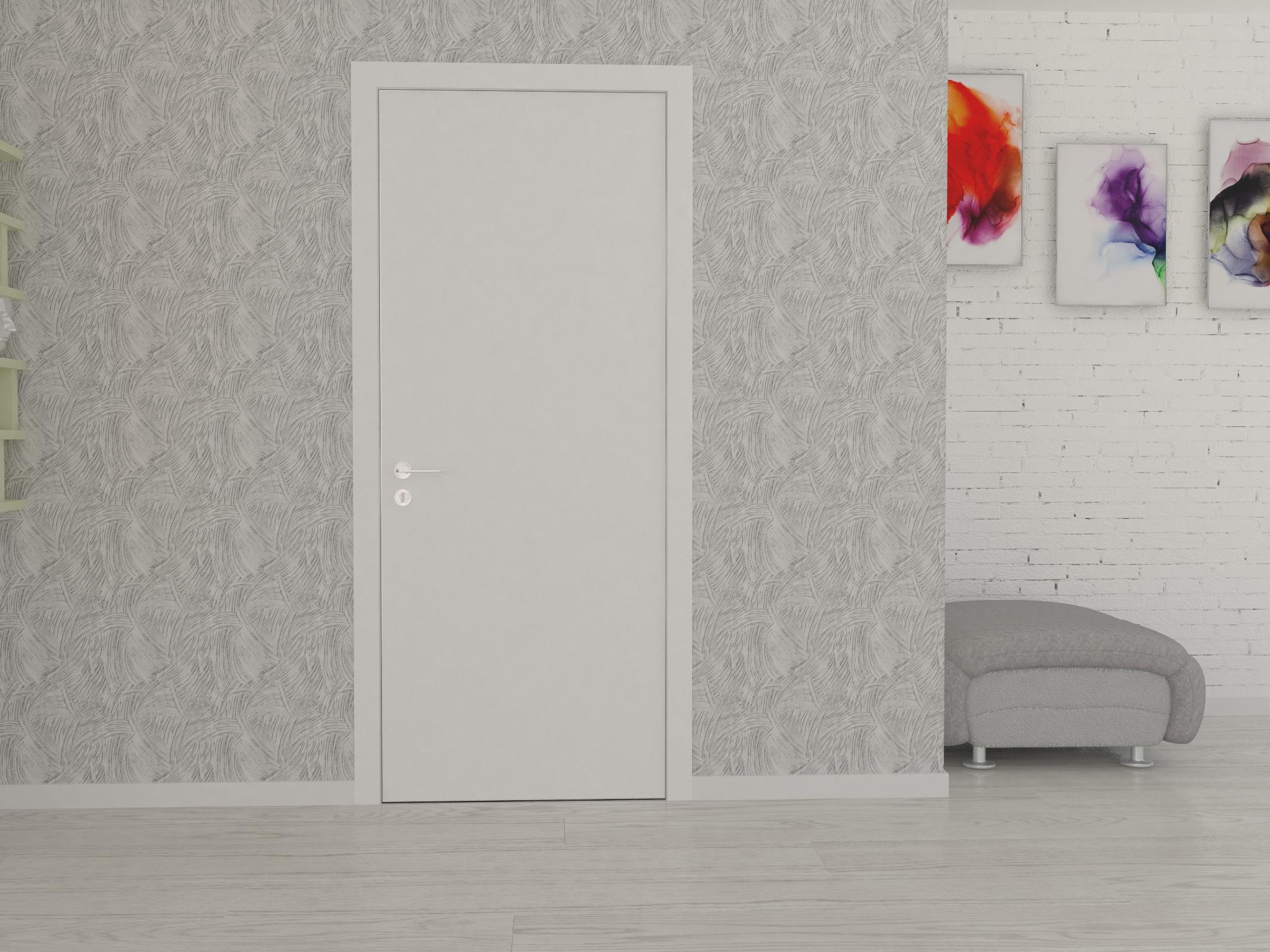 Картинка Скрытые двери с наличником 1