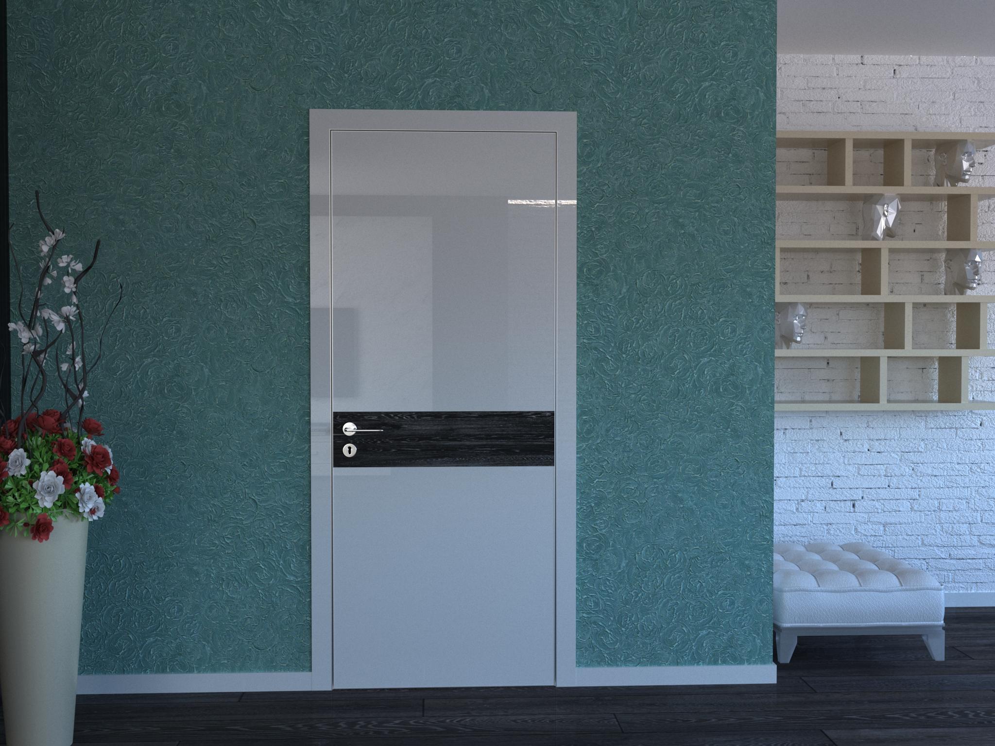 Картинка Скрытые двери с наличником 2