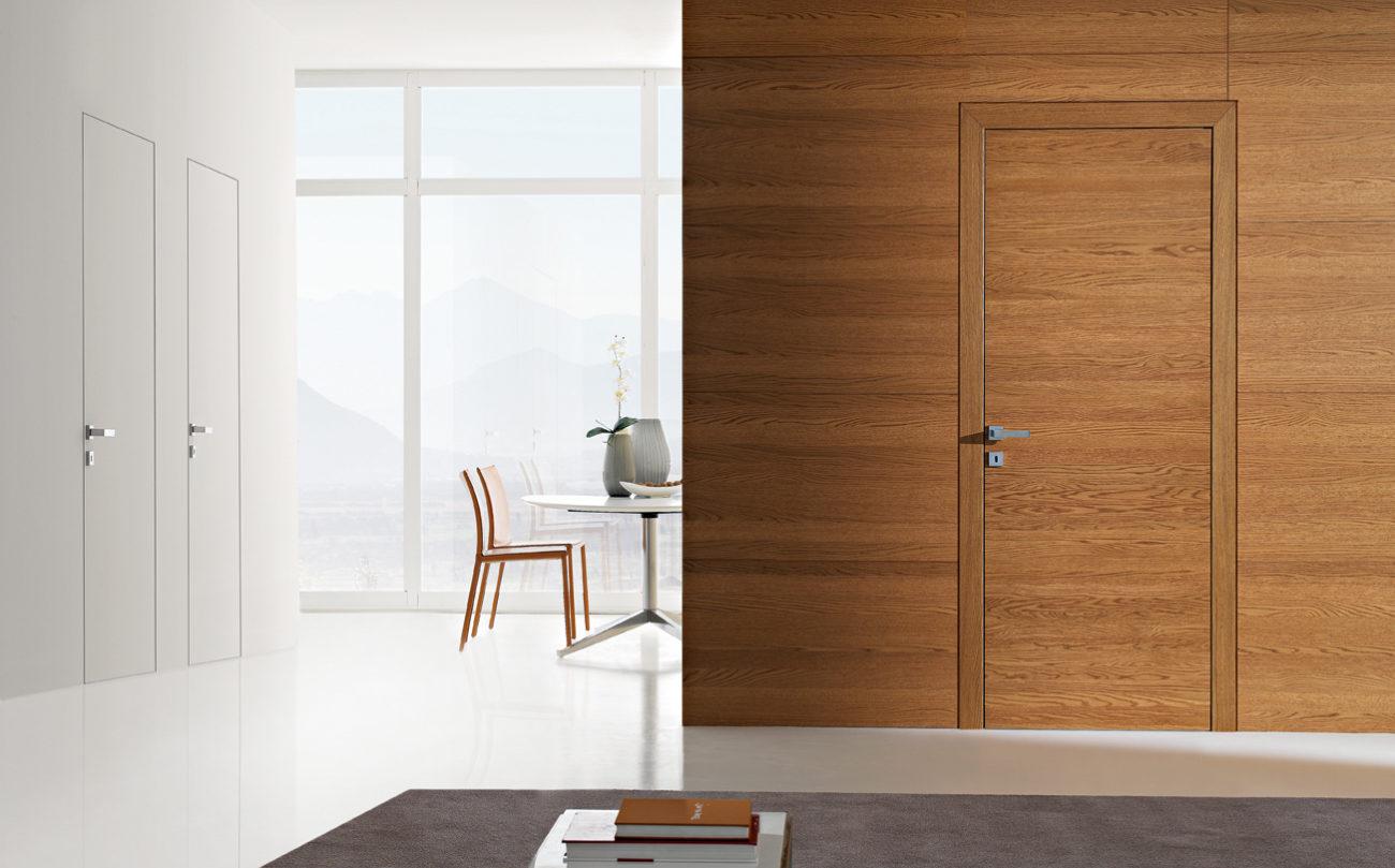 Картинка Скрытые двери с наличником 3